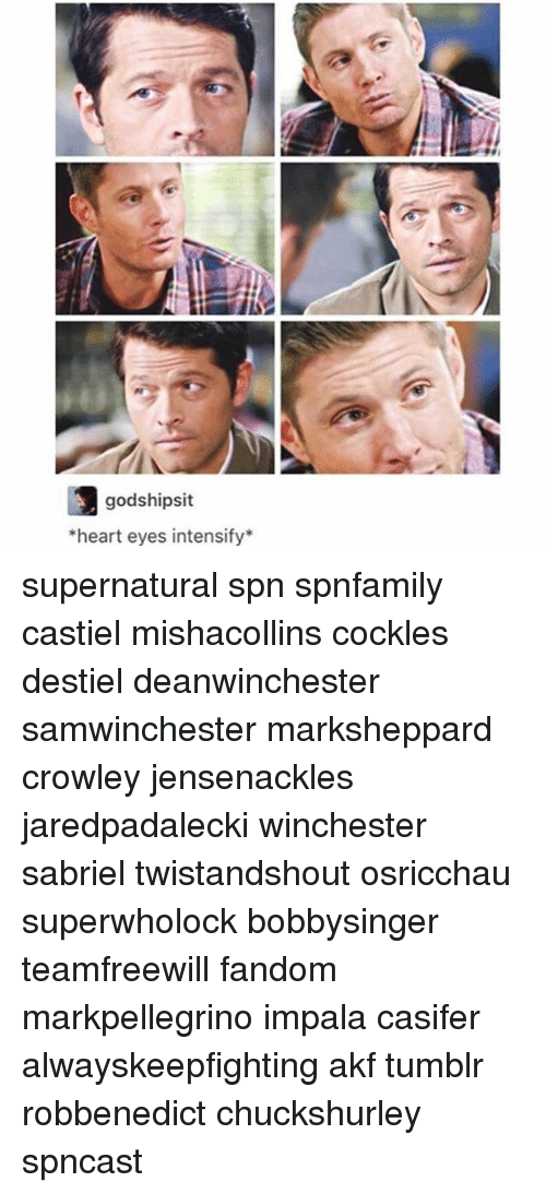 heart-eyes: godshipsit  heart eyes intensify* supernatural spn spnfamily castiel mishacollins cockles destiel deanwinchester samwinchester marksheppard crowley jensenackles jaredpadalecki winchester sabriel twistandshout osricchau superwholock bobbysinger teamfreewill fandom markpellegrino impala casifer alwayskeepfighting akf tumblr robbenedict chuckshurley spncast