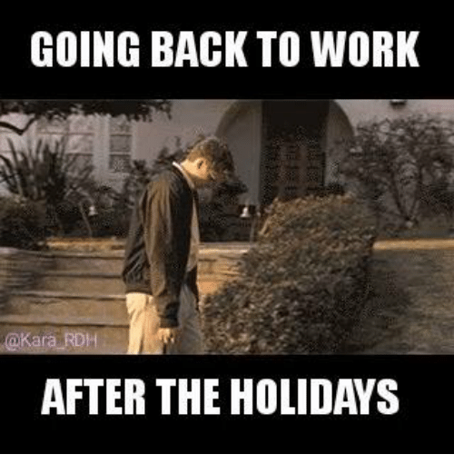 Memes, The Holiday, and 🤖: GOING BACK TO WORK  AFTER THE HOLIDAYS