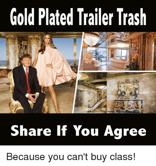 plated: Gold Plated Trailer Trash  Share If You Agree Because you can't buy class!