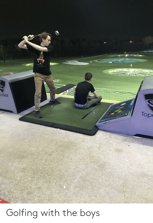 Golfing: Golfing with the boys