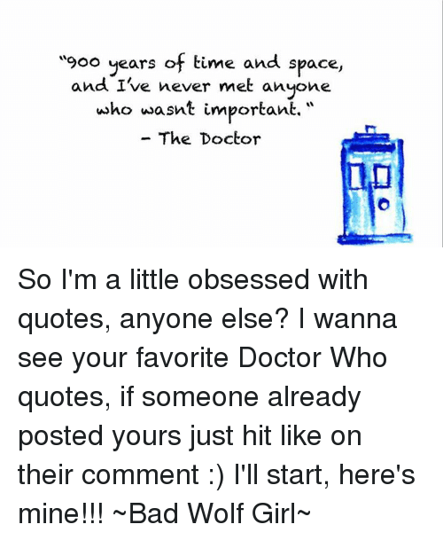 25+ Best Memes About Doctor Who Quote | Doctor Who Quote Memes