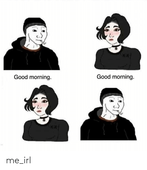 good morning good morning: Good morning.  Good morning.  X* me_irl