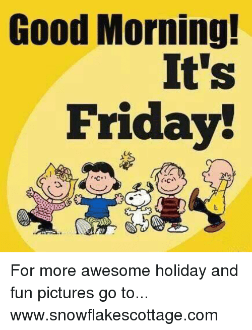Funny Good Friday Meme : Good morning it s friday for more awesome holiday and
