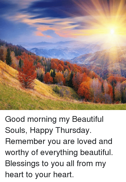 Good Morning You Re Beautiful Meme : Good morning my beautiful souls happy thursday remember