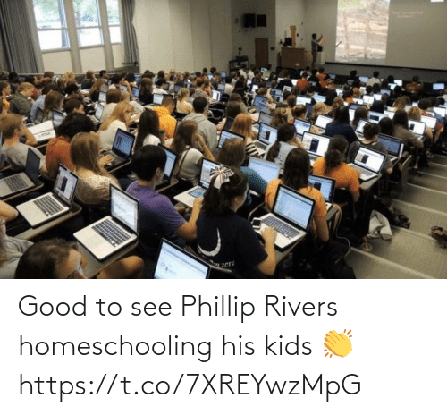 phillip rivers: Good to see Phillip Rivers homeschooling his kids 👏 https://t.co/7XREYwzMpG