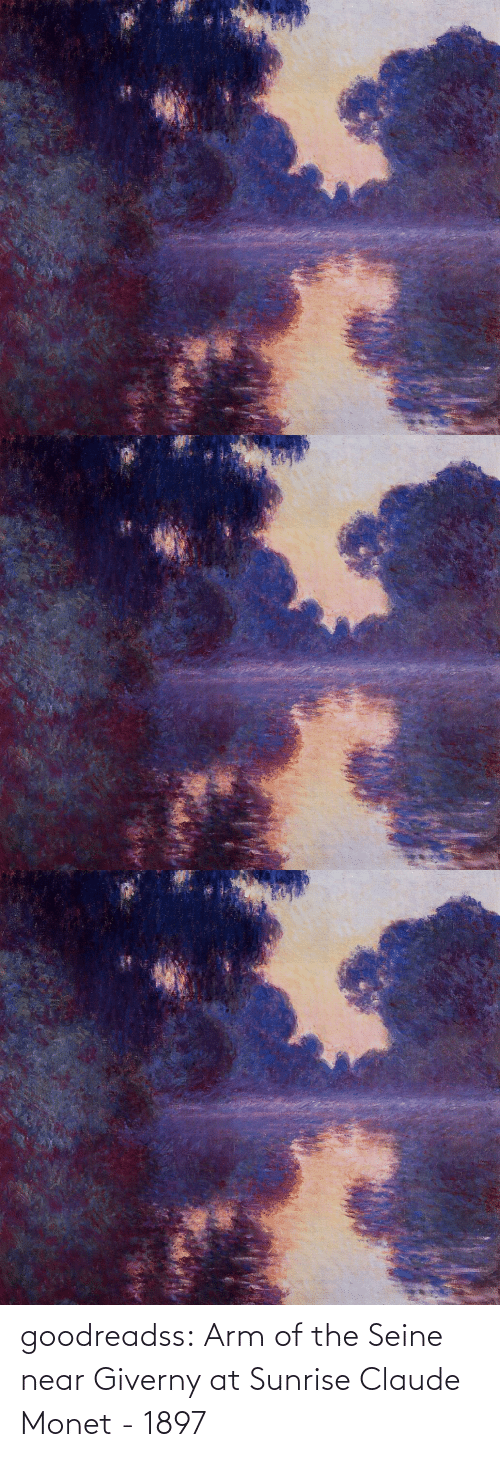 arm: goodreadss: Arm of the Seine near Giverny at Sunrise Claude Monet - 1897