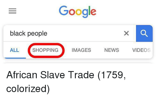 slave trade: Google  black people  ALL SHOPPING IMAGES NEWS VIDEOS African Slave Trade (1759, colorized)