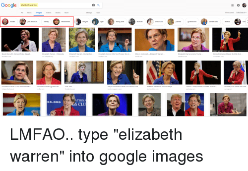al franken: Google elizabeth warren  All News ImagesVideos Books More  tings Tools  View saved SafeSearch  indian  pocahontas  family  headdress  height  age  early year  childhood  grandchild  democratic  amelia  offi  woman  parent  4 days ago  6 days ago  Meets the Left's Circular Firing Squad  the nation.com  Elizabeth Warren- Wikipedia  en. wikipedia.org  Elizabeth Warren - Home   Fac..  facebook.com  Elizabeth Warren DNA Test Proves She Is.  bre itbart.com  DNA is irrelevant Elizabeth Warren...  the hil. com  Elizabeth Warren slams Trump  mas slive.com  Elizabeth Warren Stands By DNA Test...  newsweek.com  4 days ago  Elizabeth Warren's DNA test fact check..  DNA Test.  Elizabeth Warren (SenWanr  twitter.com  Why Is Elizabeth Warren So Hard to Love  bos tonma gazine.com  whether Al Franken should resign.  bostonglobe.com  Donald Trump mocks Elizabeth Warren's...  usatoday.com  Ancestry Was Never the Point  independent.co.uk  the atlantic.com  nymag.com  TION  S CLU  S.ORG  6 days ago