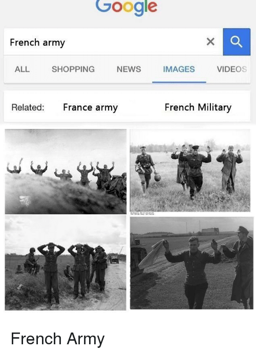 french army: Google  French army  ALL SHOPPING NEWS IMAGES VIDEO  Related: France army  French Military <p>French Army</p>