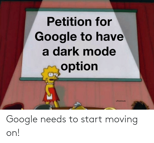 moving on: Google needs to start moving on!