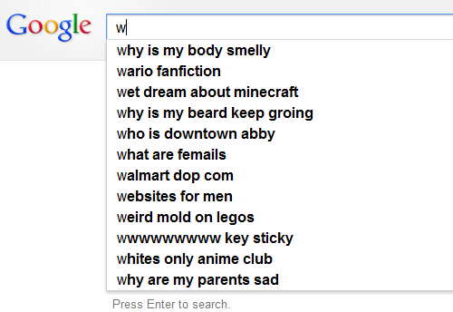 smelly: Google w  why is my body smelly  wario fanfiction  wet dream about minecraft  why is my beard keep groing  who is downtown abby  what are femails  walmart dop com  websites for men  weird mold on legos  wwwwwwwww key sticky  whites only anime club  why are my parents sad  Press Enter to search.