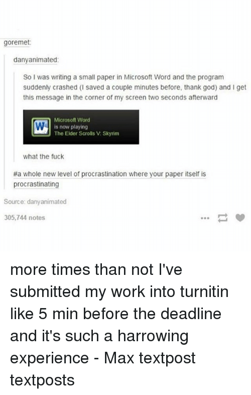 check your paper before turnitin