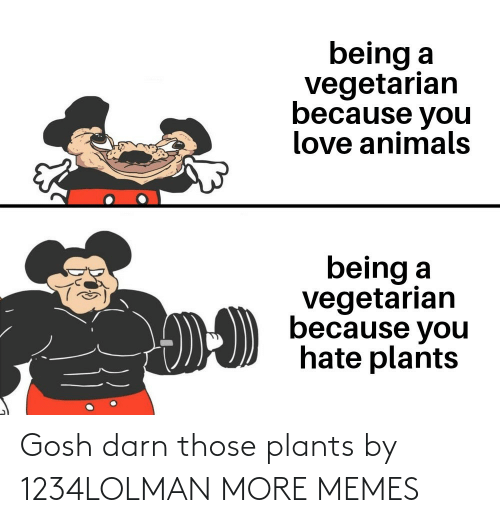 plants: Gosh darn those plants by 1234LOLMAN MORE MEMES