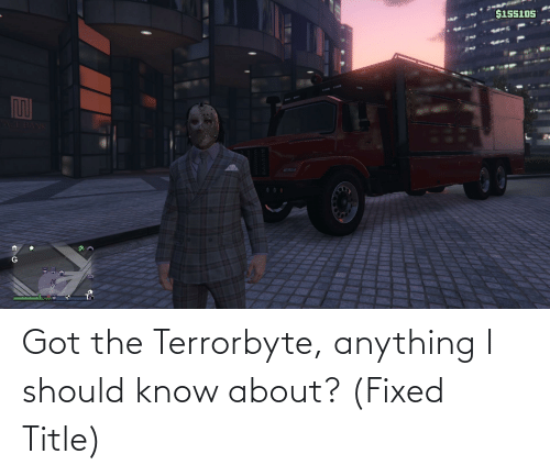 Fixed: Got the Terrorbyte, anything I should know about? (Fixed Title)
