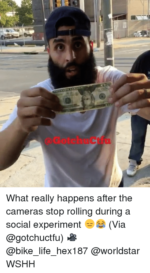 Experimentive: GotchuCtfu What really happens after the cameras stop rolling during a social experiment 😑😂 (Via @gotchuctfu) 🎥 @bike_life_hex187 @worldstar WSHH