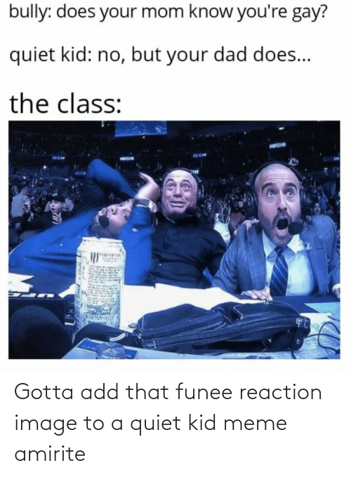 add: Gotta add that funee reaction image to a quiet kid meme amirite