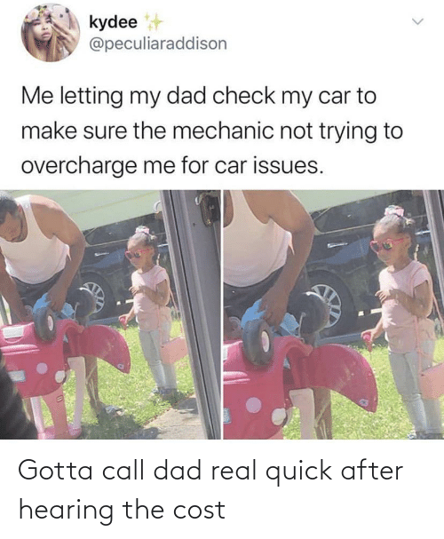 Cost: Gotta call dad real quick after hearing the cost