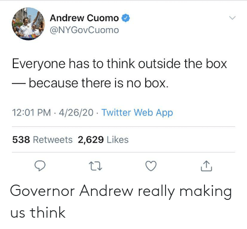 Im 14 & This Is Deep: Governor Andrew really making us think