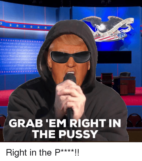 Politics, Pussy, and Ems: GRAB 'EM RIGHT IN  THE PUSSY Right in the P****!!