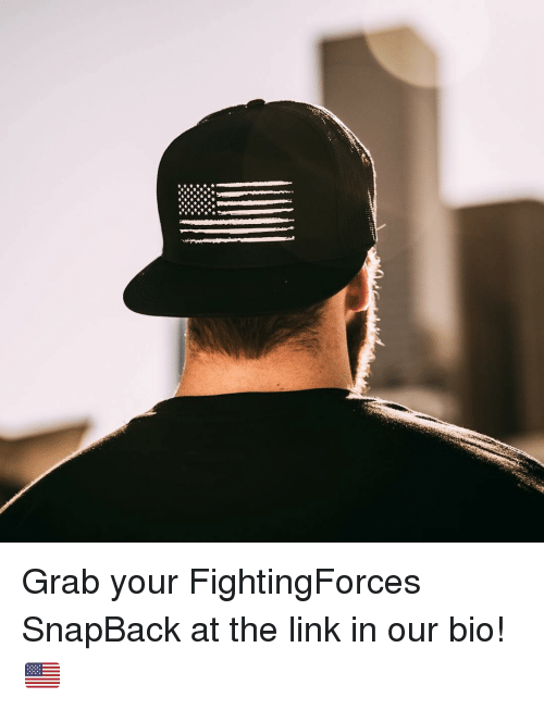 Memes, Link, and 🤖: Grab your FightingForces SnapBack at the link in our bio! 🇺🇸
