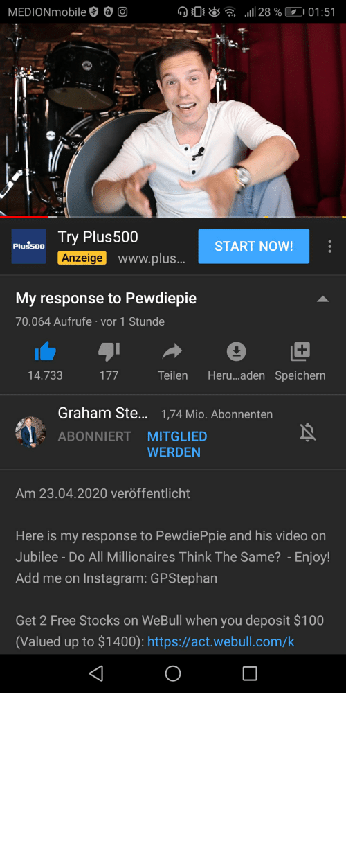 """reactions: Graham Stephan from the Jubile video """"Do all millionaires think the same"""" has responded to Pewdiepie's reactions"""