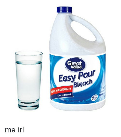 Bleach Irl And Me IRL Great Value Pour Easy Concentrated