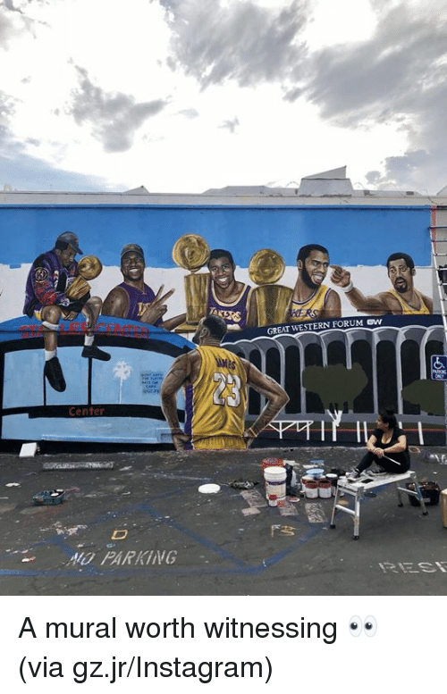 Instagram, Western, and A10: GREAT WESTERN FORUM SW  23  Center  A10 PARKING A mural worth witnessing 👀 (via gz.jr/Instagram)