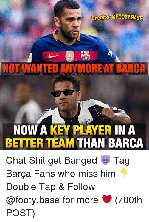 player: greditseeFOOTy BASE  NOT WANTED ANYMORE AT BARCA  NOW A KEY PLAYER  IN A  BETTER TEAM  THAN BARCA Chat Shit get Banged 😈 Tag Barça Fans who miss him 👇 Double Tap & Follow @footy.base for more ❤️ (700th POST)