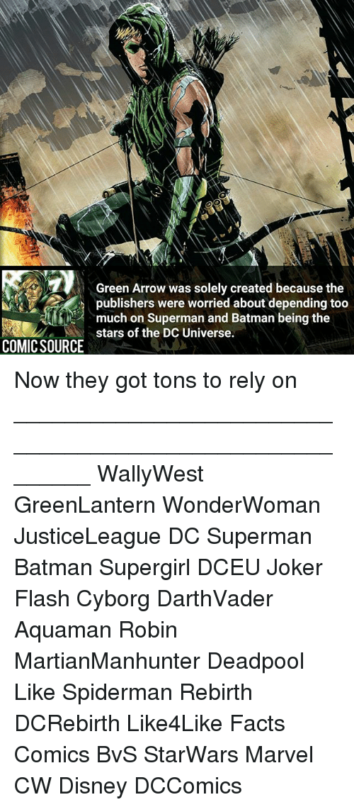 green arrow was solely created because the publishers were worried