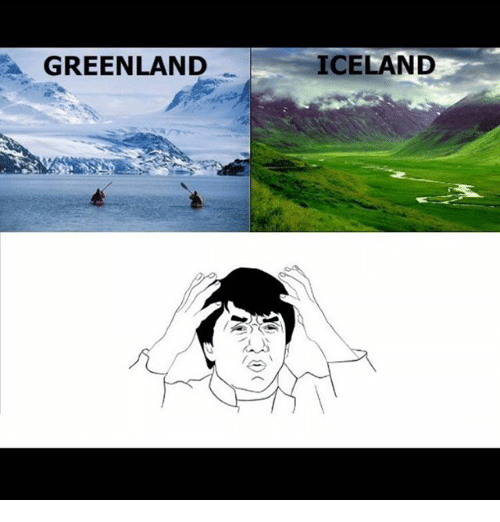 Memes, Iceland, and 🤖: GREENLAND  ICELAND