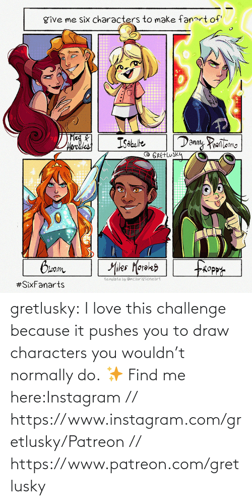 Instagram: gretlusky:    I love this challenge because it pushes you to draw characters you wouldn't normally do.    ✨ Find me here:Instagram // https://www.instagram.com/gretlusky/Patreon // https://www.patreon.com/gretlusky