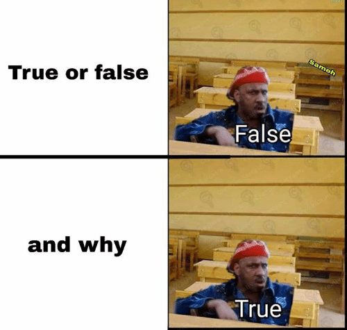 true or false: Grew  Sameh  True or false  False  and why  True