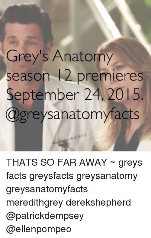 Grey\'s Anatomy Season L2 Premieres September 24 2015 THATS SO FAR ...