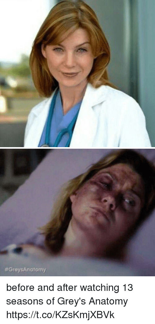 Memes, Grey's Anatomy, and 🤖: before and after watching 13 seasons of Grey's Anatomy https://t.co/KZsKmjXBVk