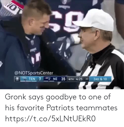 gronk: Gronk says goodbye to one of his favorite Patriots teammates https://t.co/5xLNtUEkR0