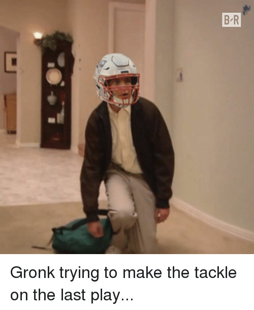 gronk: Gronk trying to make the tackle on the last play...