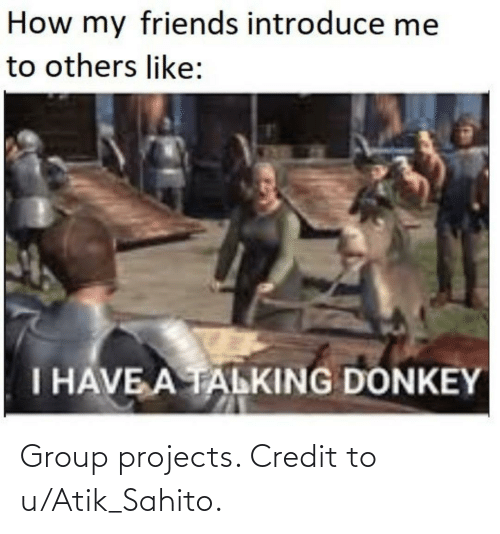 Group Projects: Group projects. Credit to u/Atik_Sahito.
