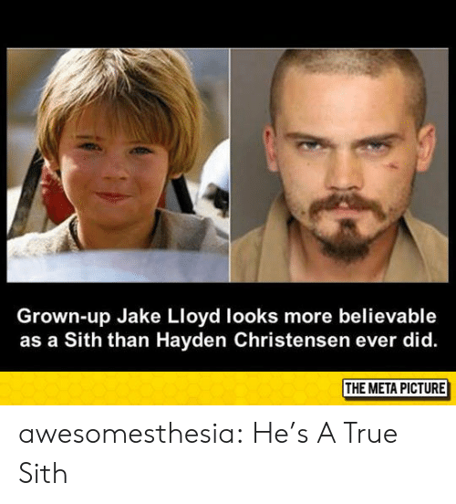 lloyd: Grown-up Jake Lloyd looks more believable  as a Sith than Hayden Christensen ever did. awesomesthesia:  He's A True Sith