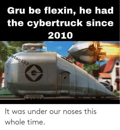 Gru: Gru be flexin, he had  the cybertruck since  2010  alceetan123 It was under our noses this whole time.