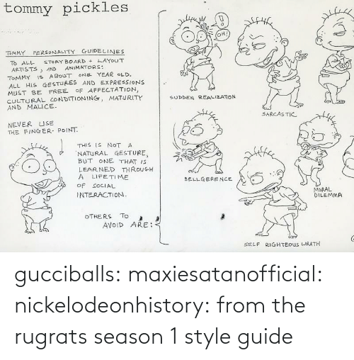 Season: gucciballs:  maxiesatanofficial: nickelodeonhistory: from the rugrats season 1 style guide
