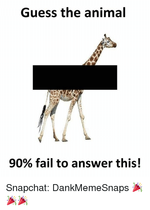 Guess The Memes Answers Roblox: Guess The Animal 90% Fail To Answer This! Snapchat