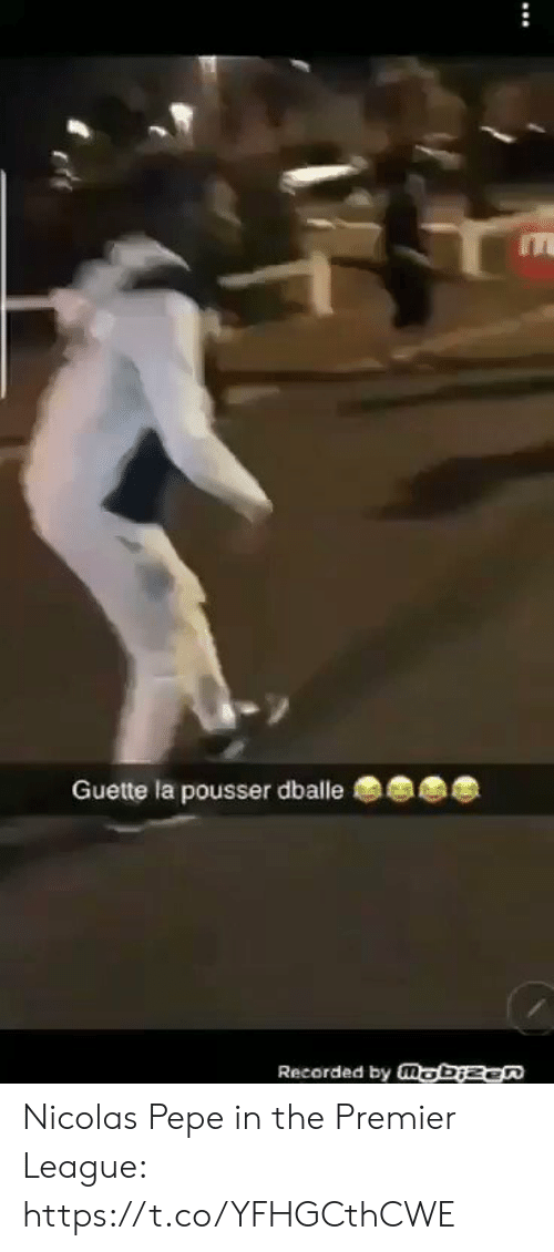 Pepe: Guette la pousser dballe  Recorded by mobizen Nicolas Pepe in the Premier League: https://t.co/YFHGCthCWE