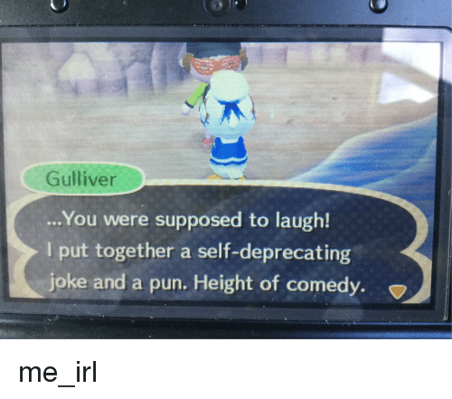 gulliver you were supposed to laugh i put together a self