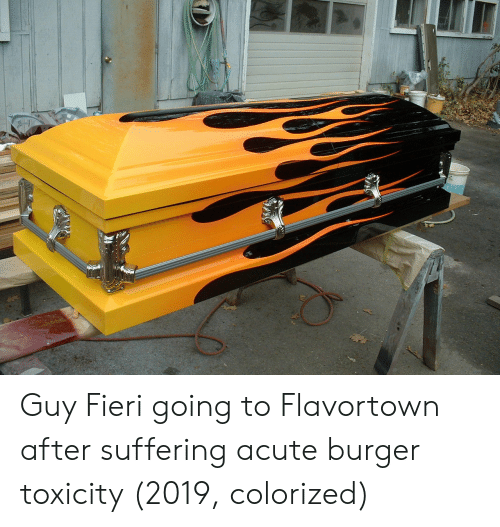 Flavortown: Guy Fieri going to Flavortown after suffering acute burger toxicity (2019, colorized)