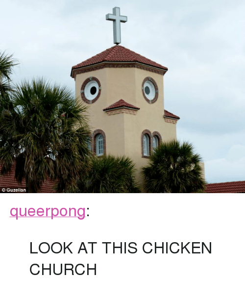 "Chicken Church: Guzelian <p><a href=""http://queerpong.tumblr.com/post/56718069446/look-at-this-chicken-church"" class=""tumblr_blog"" target=""_blank"">queerpong</a>:</p>  <blockquote><p>LOOK AT THIS CHICKEN CHURCH</p></blockquote>"
