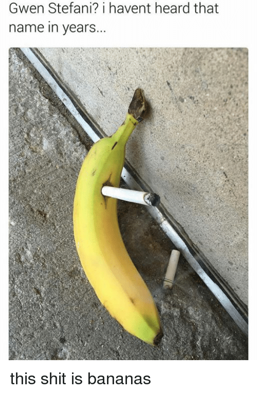 Stefani: Gwen Stefani? i havent heard that  name in years... this shit is bananas