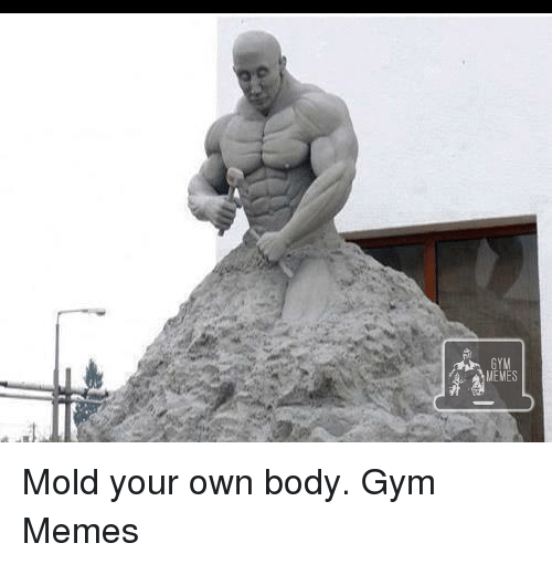 Mold, Your Own, and Molde: GYM  MEMES Mold your own body.   Gym Memes
