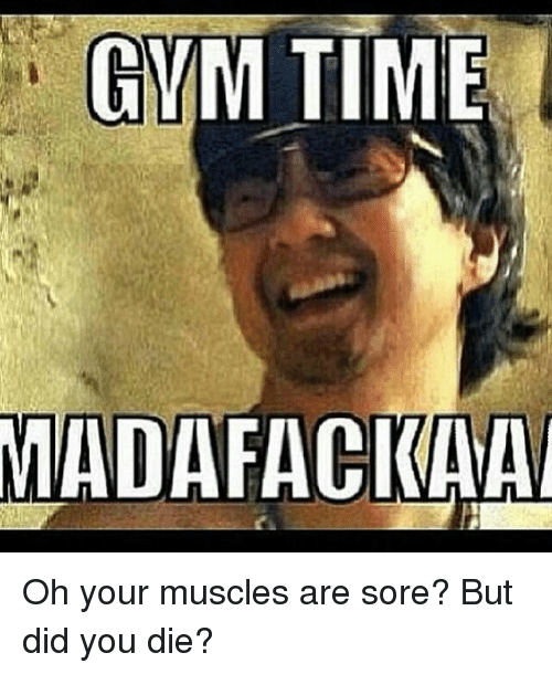 Gym: GYM TIME  MADAFACKAA Oh your muscles are sore? But did you die?