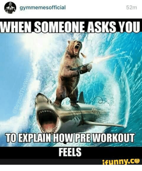Gym Memes Official: gymmemes official  52m  WHEN SOMEONE ASKS YOU  TOE PLAIN HOWPHE WORKOUT  FEELS  ifunny.CO