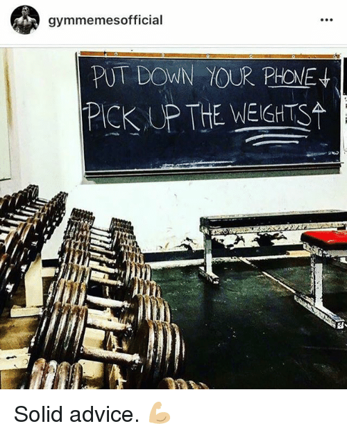 SIZZLE: gymmemesofficial  P) DOWN TOUR  PICK UP THE WEIGHTS Solid advice. 💪🏼